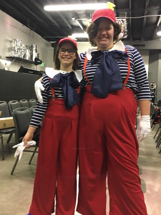 Tweedle Dee and Tweedle Dum costumes; sewing success