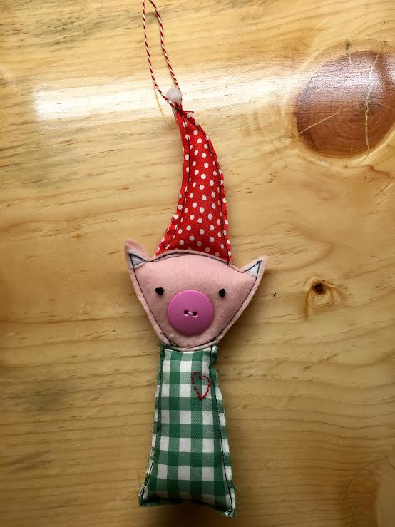 pig ornament; sewing success