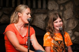 Singing at Family Camp