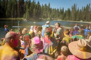 Color Party at Family Camp