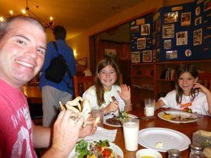 Dinner at Family Camp
