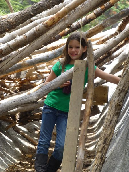 Fort Building at Family Camp