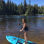 Paddleboarding at Family Camp