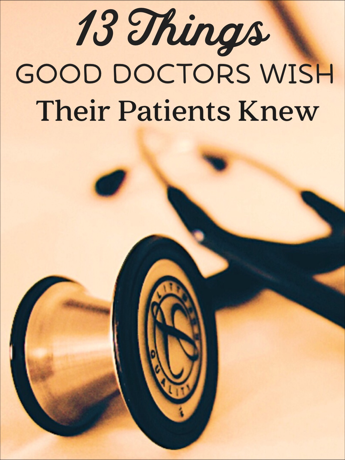 Demystifying the doctor patient relationship