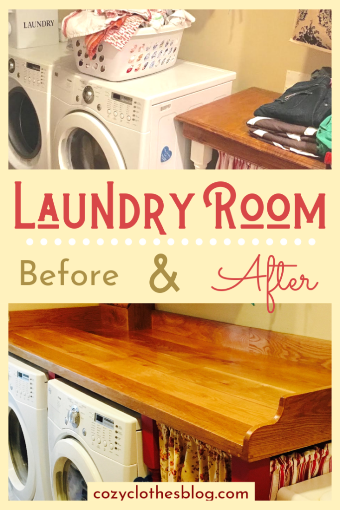 Laundry Room Before and After | https:/cozyclothesblog.com