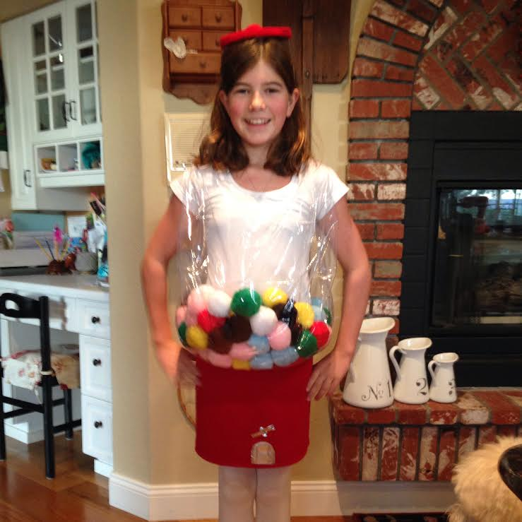 gumball machine costume; sewing success