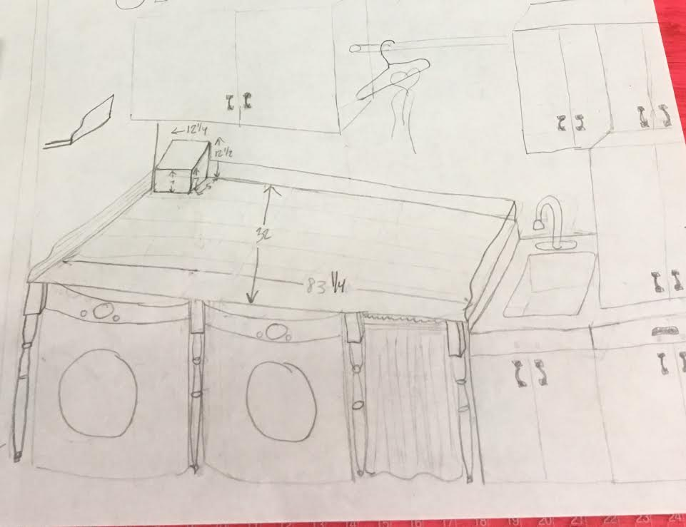 sketch of laundry room after