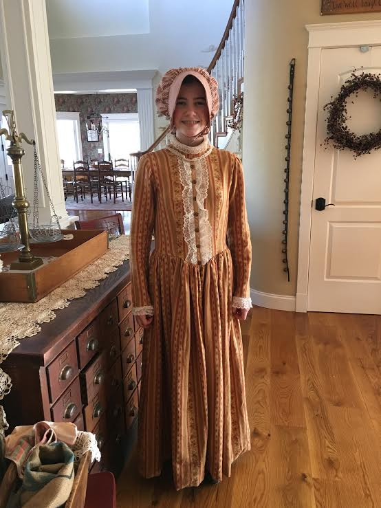 Little House on the Prairie costume; sewing success