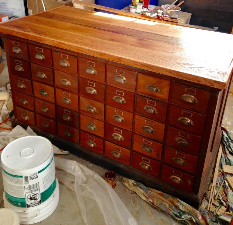 antique apothecary after with new top
