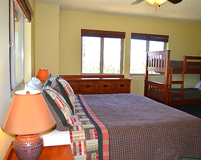 lodge room at family camp